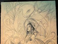 Girl sketch high