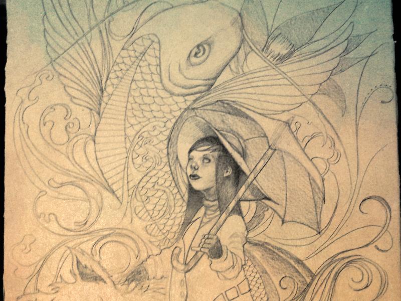 Girl Sketch illustration sketch