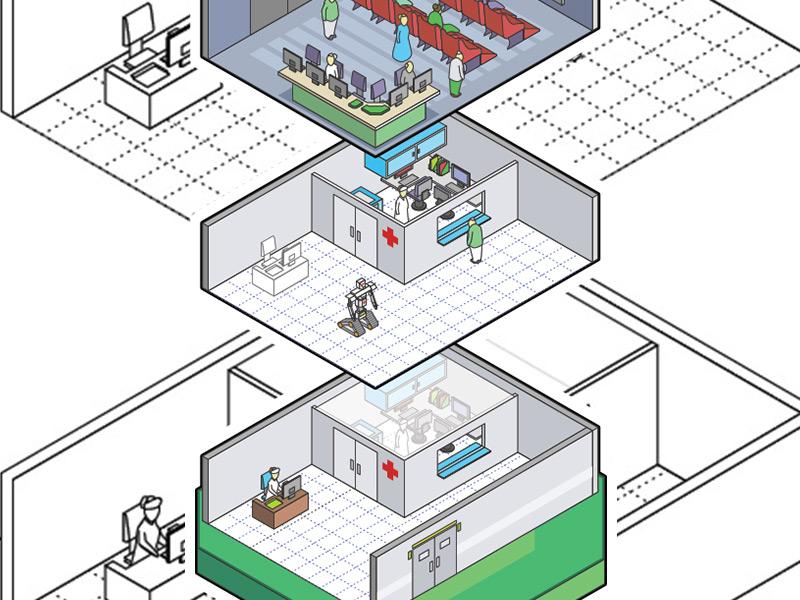 Isomtric Care Home isometric vectors illustrator illustration infographic