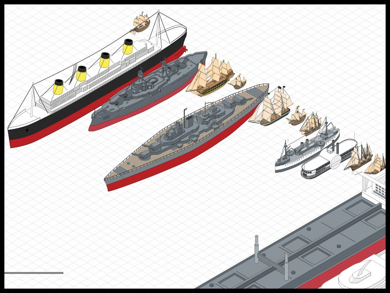 Isometric Ships isometric vectors illustrator illustration infographic
