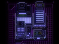 80's inspired tech map