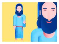 Flat concept Lord Jesus