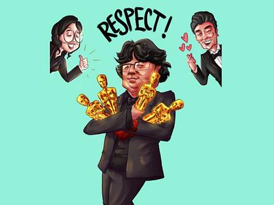 BONG JOON-HO korean movie digital art movie illustration fan art academy awards oscars bong joon ho parasite