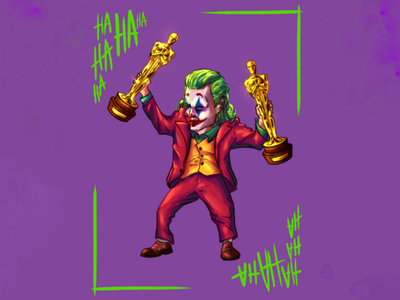 Mini Joker character design digital art fanart illustration academy awards oscar joaquin phoenix joker
