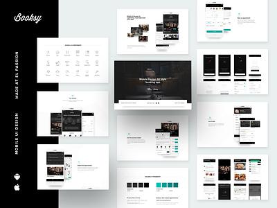 Booksy - style booking app case study mobile design dark theme booksy presentation booking application ios