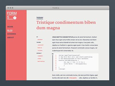 Form5 Website - Blog form5 blog minimal minimalism web website @2x