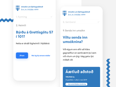 Reykjavik Financial Aid – Application Flow product ux ui