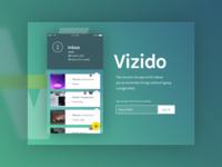 Vizido Teaser Landing Page