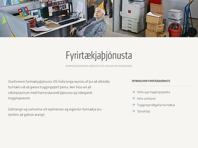 VÍS – making insurance policies more interesting illustration responsive mobile website web