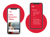 Íslandsbanki – Mobile Front and Menu