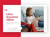 Íslandsbanki – Desktop Front figma typography minimal web