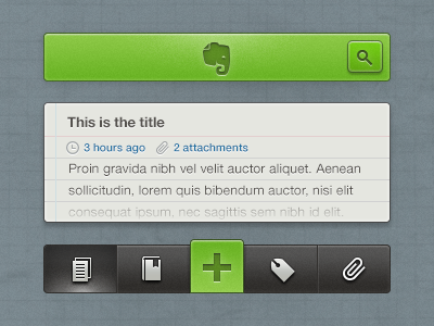 Evernote iOS Concept ui ios iphone app evernote note concept redesign