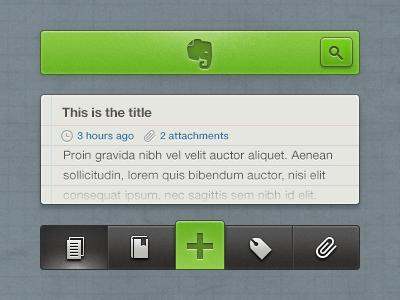 Evernote iOS Concept ui ios iphone app evernote note concept redesign