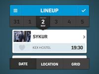 Music Festival App (Filters)