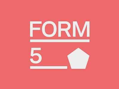 Form5 logo @2x pentagon minimal minimalism