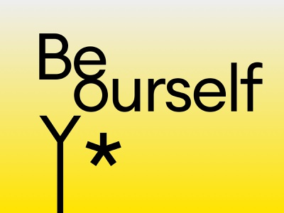 beyourself typography clean design