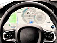 Electric Car Dashboard — UI Weekly Challenges S2 / W4/10