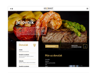 Page for restaurant website