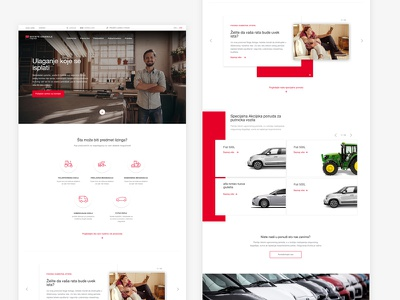 Design Layout for Leasing clean leasing website design web