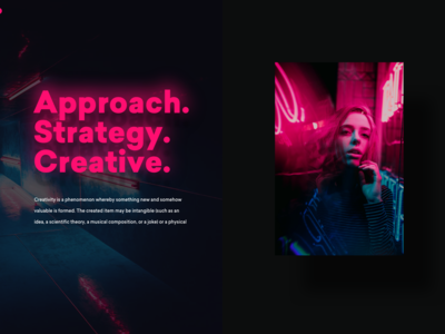 Neon typography layout design
