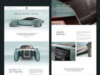 Art deco - UI challenge 02 rolls royce art deco automotive ui web
