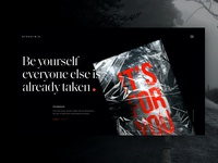 exploring boundaries art black website clean design