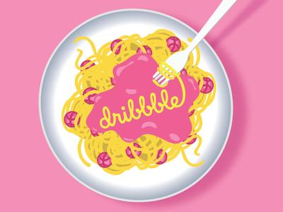 Spaghetti and Dribbble!