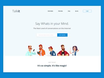 Landing Page ( Above fold ) - DailyUI 03