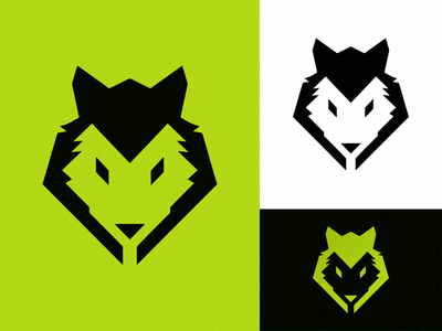 'WOLF' vector profile illustration logomark identity design logo branding art daily