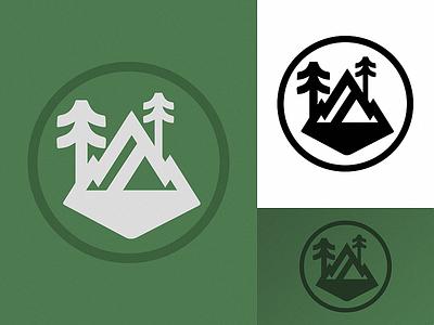 'Wilderness' vector ui illustration logomark design identity logo branding art daily