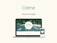 Creme Resume Template
