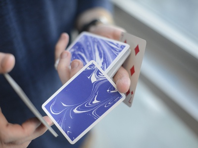 Clouded Paper Playing Cards