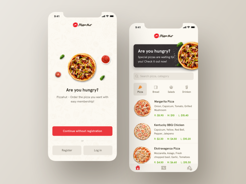 Pizza app | Daily Goal Completion apple application pizza pizzahut mobile ui