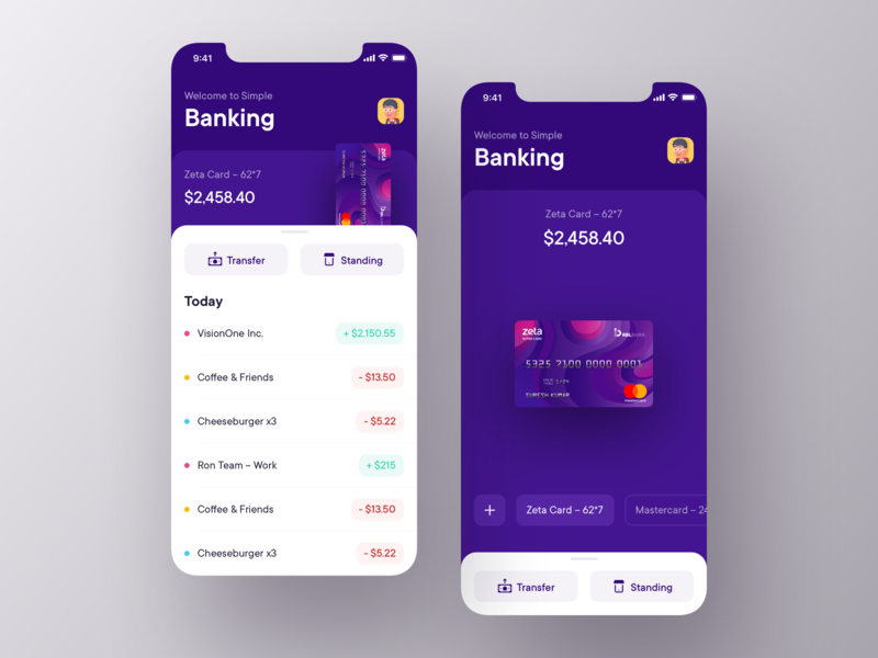 Bank app | Daily Goal Completion zeta ux ui banking app