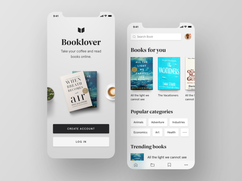 Reading Books | Daily Goal Completion journal ios interface book ui