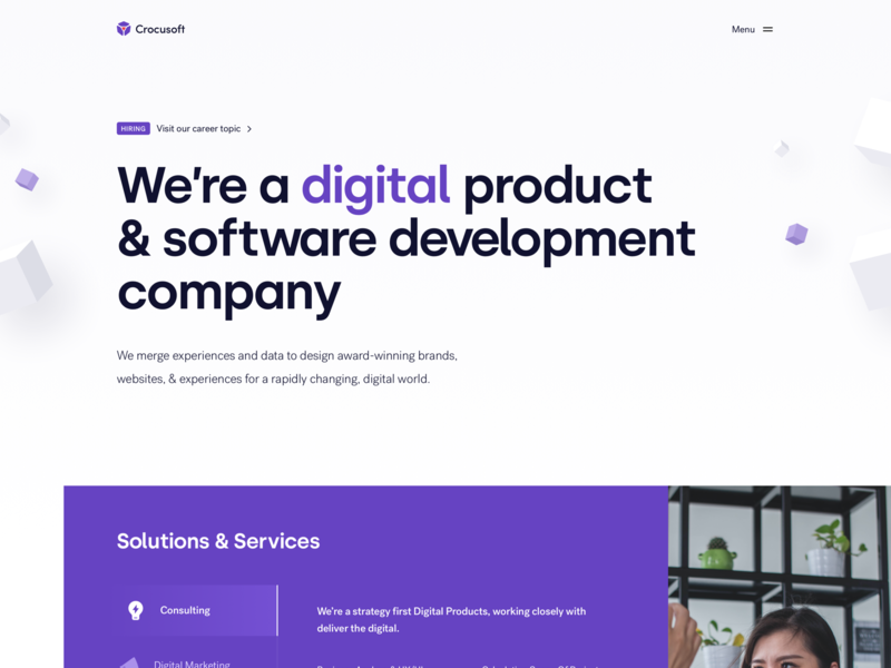 Software company ui  ux uidesign uiux software product sketch minimal interface landing ui design