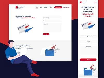 Finansowy Piotr - website brand design branding ui finance poland gdańsk illustraion