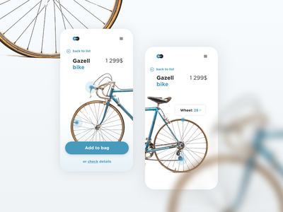 Bike shop - concept product page ecommerce shop cycle bicycles bike