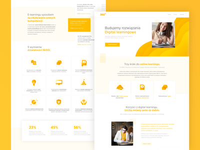 Landing page learning app learning yellow landing page