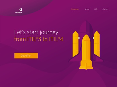 Let's journey website ui education itsm itil journey space spaceship illustration