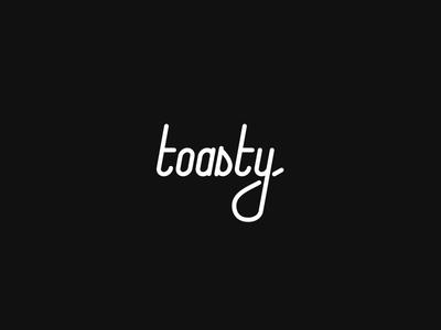Toasty Marshmallow toasty marshmallow wordmark typography script logotype logo design logo lettering identity font flat branding