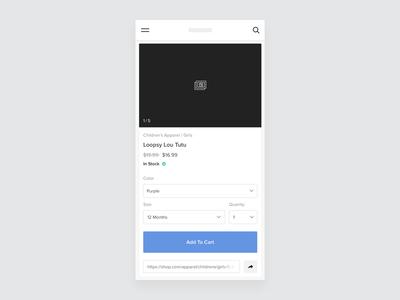 Add To Cart ux ui shopping minimal flat design commerce cart add to cart app