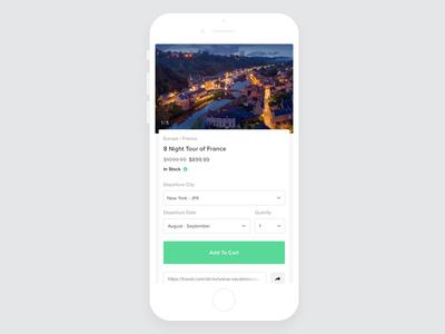 Add To Cart Design ux ui travel shopping minimal flat design commerce cart app add to cart