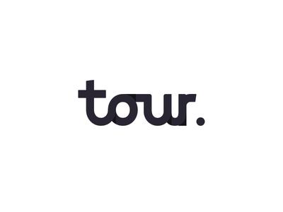 Tour. wordmark typography tour product logo design logotype logomark logo design logo lettering identity font branding