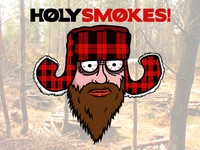 Holy Smokes! Sticker Illustration - Daniel