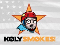Holy Smokes! Sticker Illustration - Justin