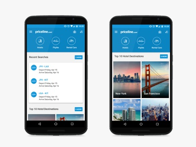Priceline Android Dashboard app priceline android