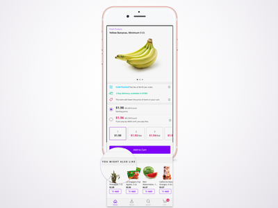 iOS Product Detail Screen app ios groceries reccomendations food ux ui design jet