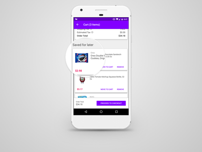 Android Save For Later shopping material ux ui app jet android