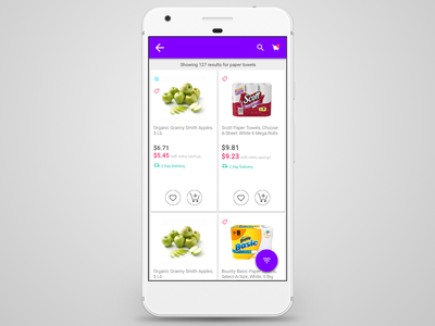 Android PLP material ux ui app jet android
